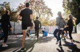 kültéri tornapálya, csoportos edzés